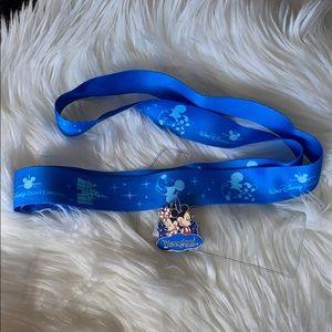 Disney Travel Company lanyard & Disneyland Pin